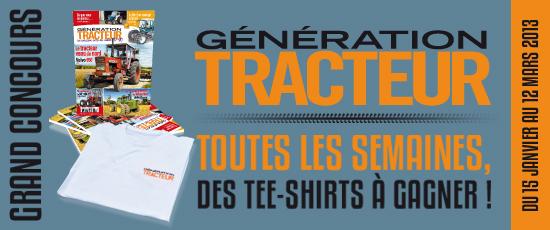 Gagnez des T-shirts Génération Tracteur